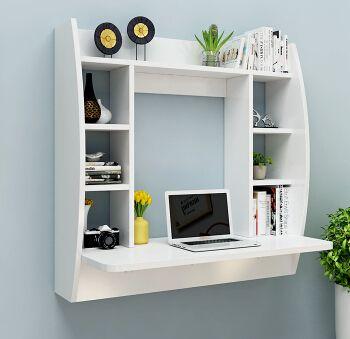 Multifuncin escritorio de la computadora en la pared colgando estante de la pared mesa de madera real los nios aprenden mesa escritorio de