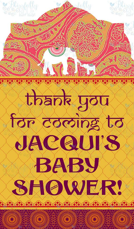 "Font on ""thank you"" Cards Bollywood baby shower, India"