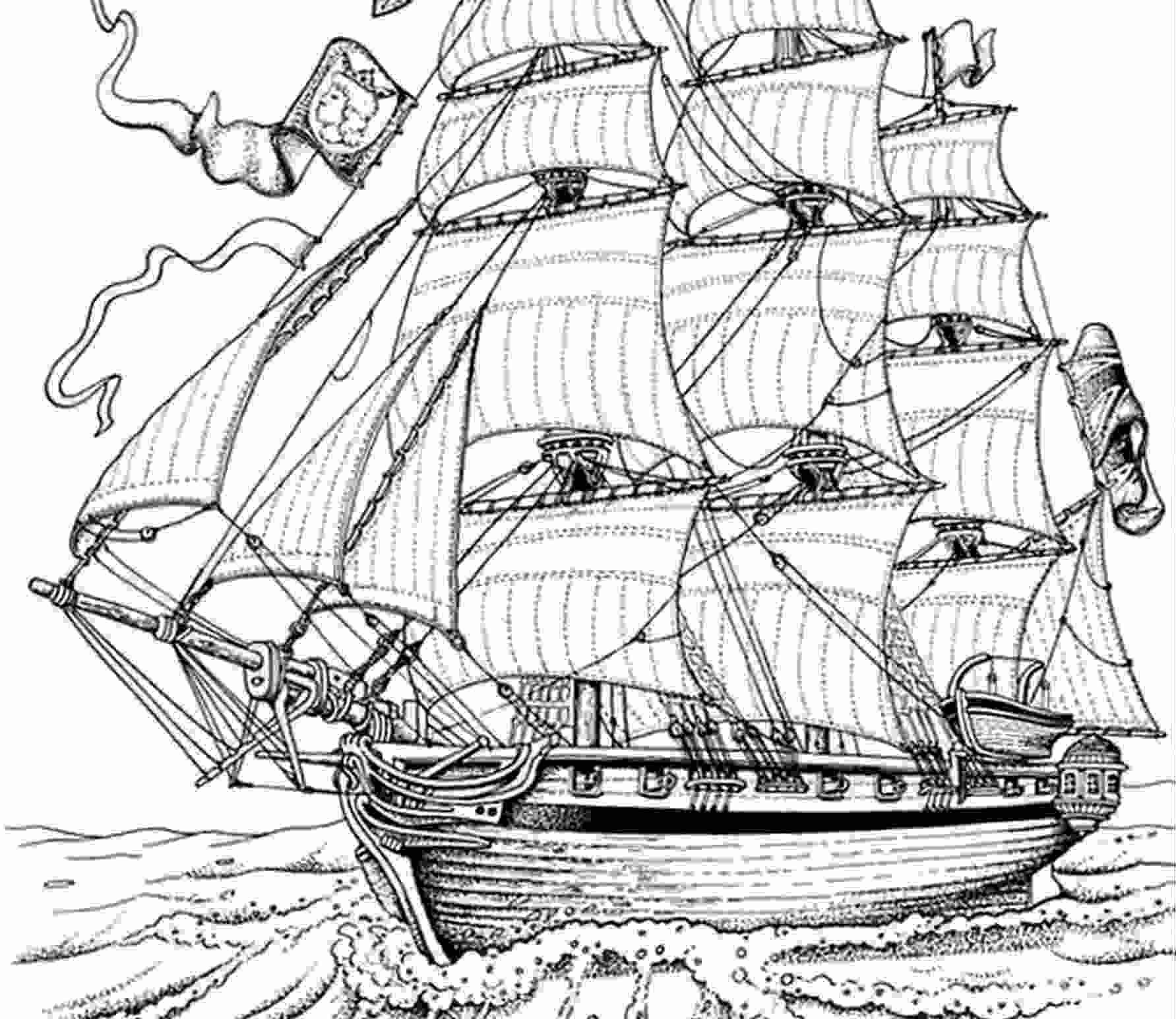 coloriage gratuit bateau pirate recherche google