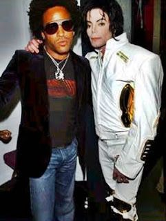 Lenny Kravitz With Michael Jackson During The Michael