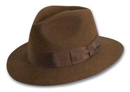 10df92f21dd99c Chic Indiana Jones Men's Wool Felt Fedora. [$34.99 - 59.77]  yourfavoriteclothing from top store