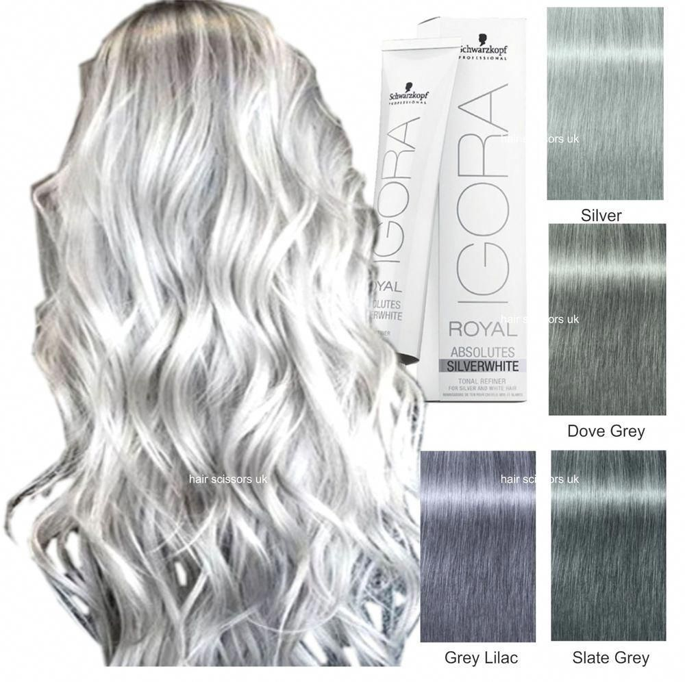 Schwarzkopf Igora Royal Absolute White To Make This Hair Colour You Will Need To Mix It With Developer T Grey Hair Dye Silver Hair Dye Schwarzkopf Hair Color
