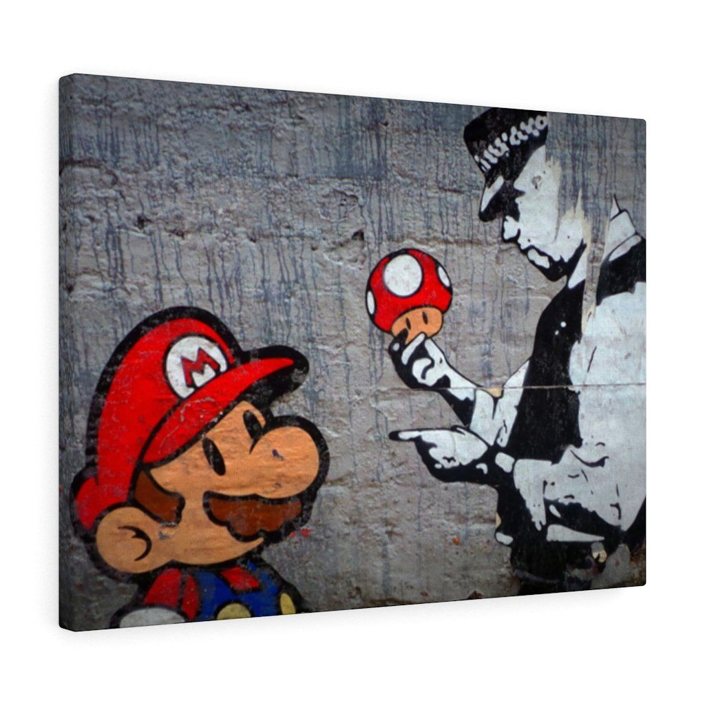 Street Mario Canvas Gallery Wrap Our Canvas Wall Art Is Finely Textured Artist Grade Cotton Substrate Outs In 2020 Gallery Wrap Canvas Hanging Canvas Canvas Wall Art