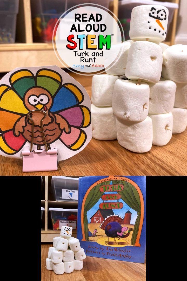 Disguise a Turkey Snowman Turk and Runt Thanksgiving READ ALOUD STEM™ Activity #disguiseaturkeyideas