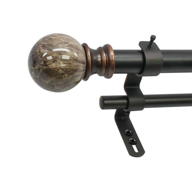 Decapolitan Marble Ball 1 Double Curtain Rod Double Rod