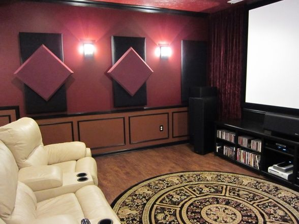 basement soundproofed media theater tv gaming room from hgtv rh pinterest com