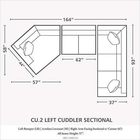 Left Cuddler Sectional Cuddler Sectional Bassett Furniture