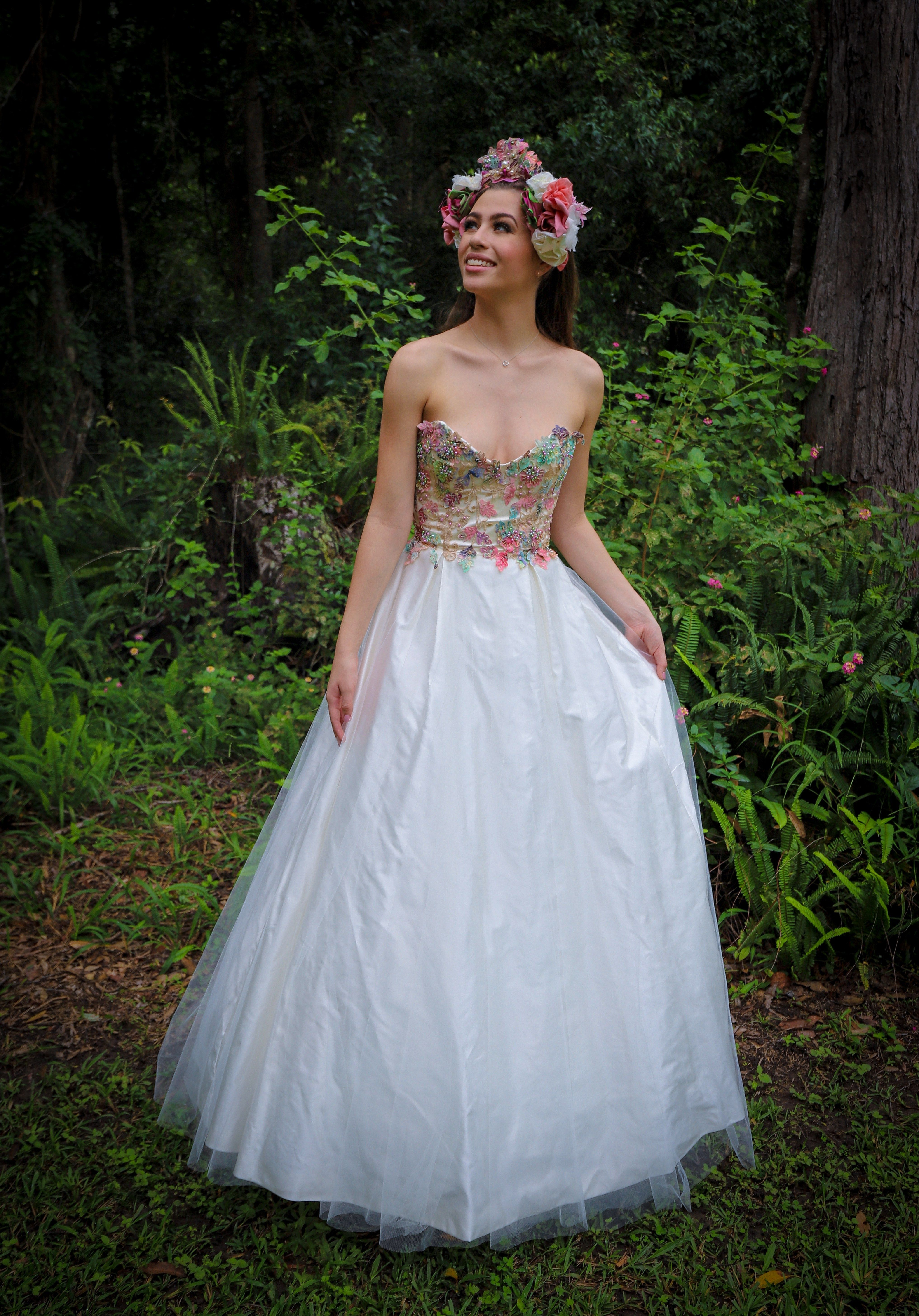 Wild flower Tea length wedding dress, Preloved wedding