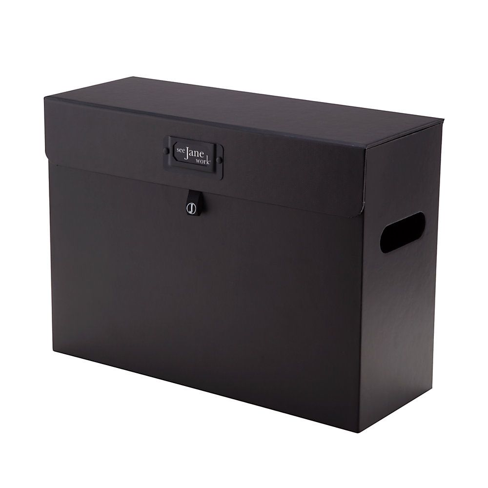 See Jane Work Paperboard File Tote 10 14 H X 14 W X 5 12 D Black By Office  Depot U0026 OfficeMax