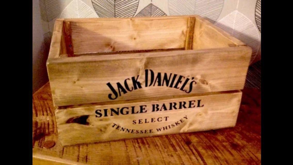 Jack Daniels JD Apple Crate Beer Crate Retro Vintage Style