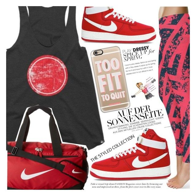 """Gym Style"" by vanjazivadinovic ❤ liked on Polyvore featuring Casetify, NIKE, polyvoreeditorial and thestyledcollection"
