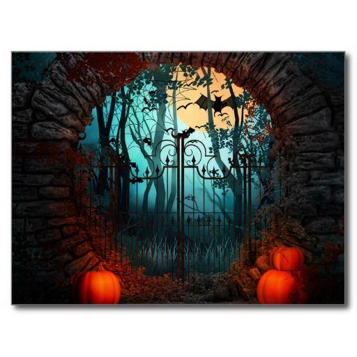 Halloween Entry Gate Postcard