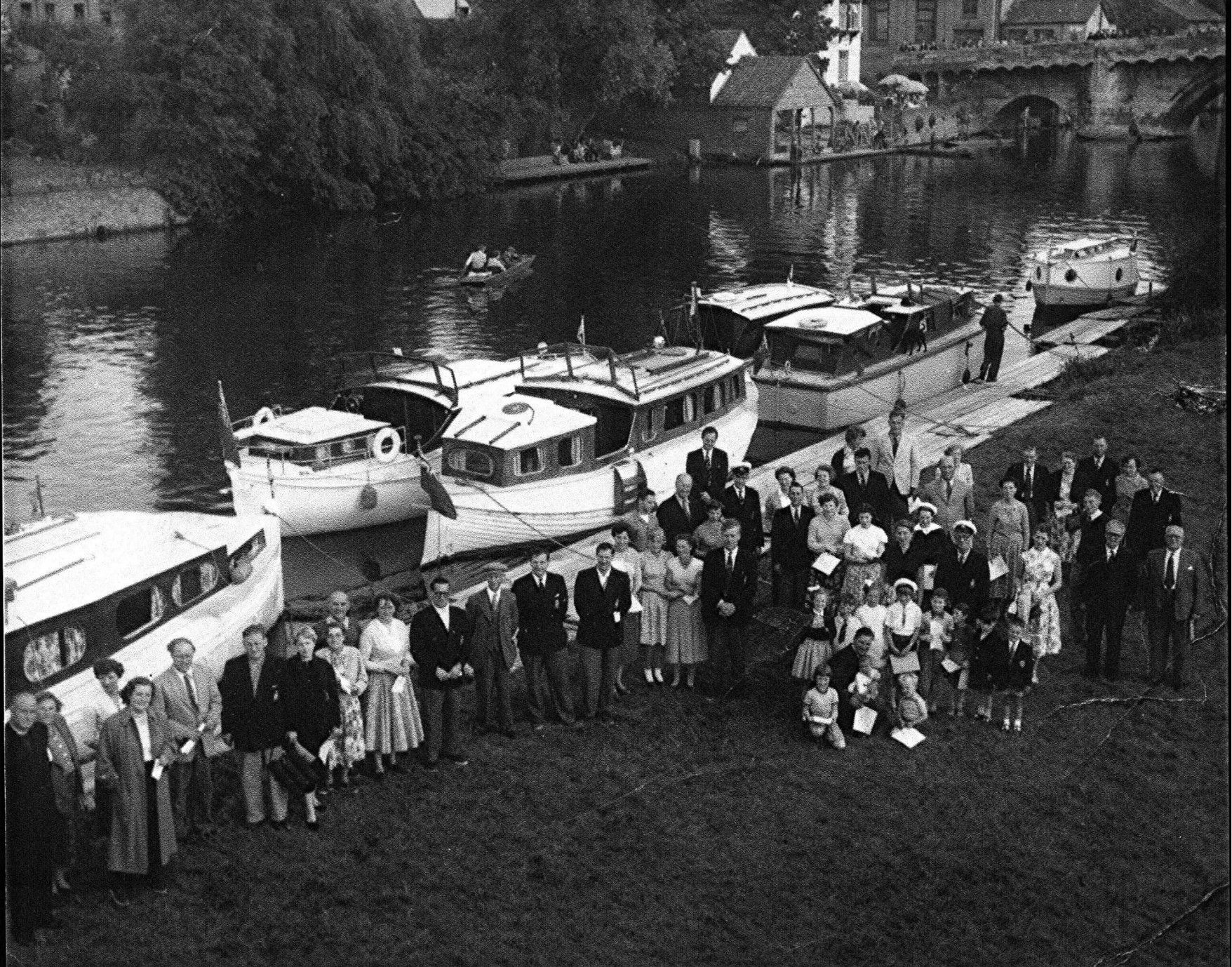 Blessing Of The Boats At Regatta Meadow St Neots In 1954 Boat