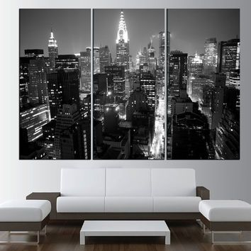 New york city manhattan skyline wall art canvas print black and white manhattan skyline canvas