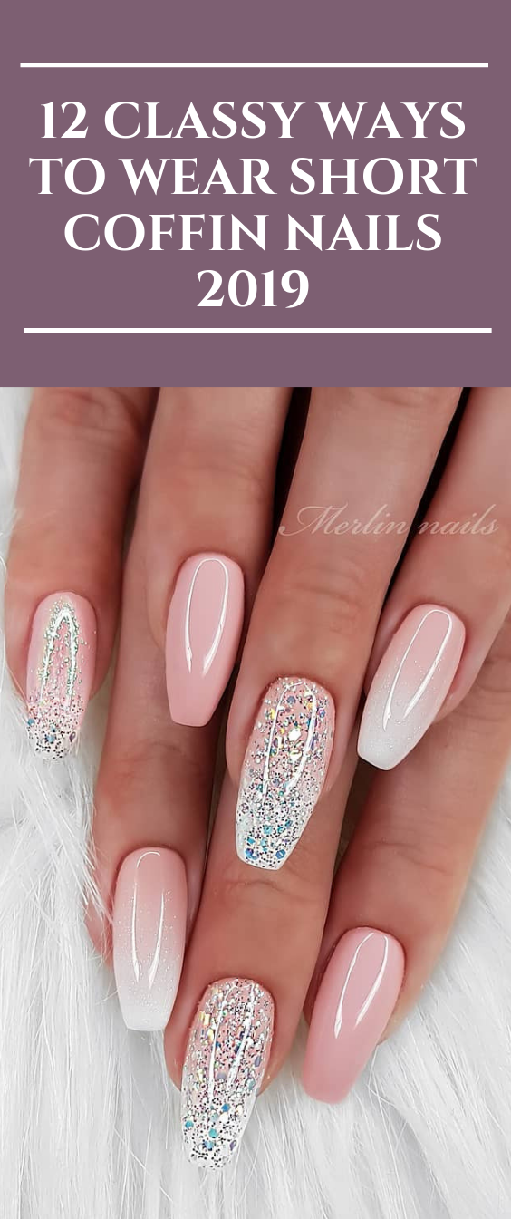 12 Classy Ways To Wear Short Coffin Nails 2019 Nails Coffinnail Fashion Naildes Short Coffin Nails Designs Short Coffin Nails Acrylic Nails Coffin Short