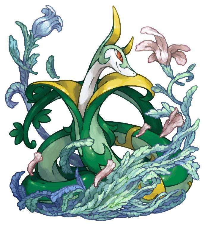 Serperior Evolves From Servine Grass Type Pokemon Black And
