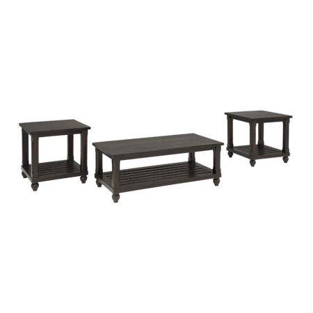 signature design by ashley mallacar 3 piece coffee table set rh pinterest com