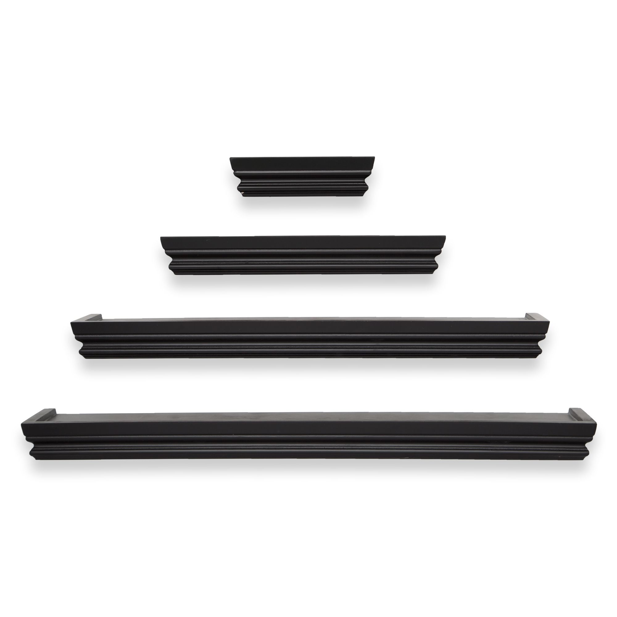 set of 4 crown molding shelving black 24 20 12 6 gordmans rh pinterest com