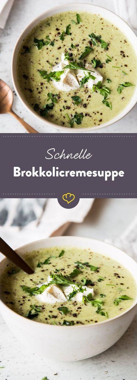 Ruckzuck zubereitet und gesund: Diese Brokkolicremesuppe ist nicht nur herrlich cremig, sondern steht auch schnell auf deinem Tisch. #foodporn