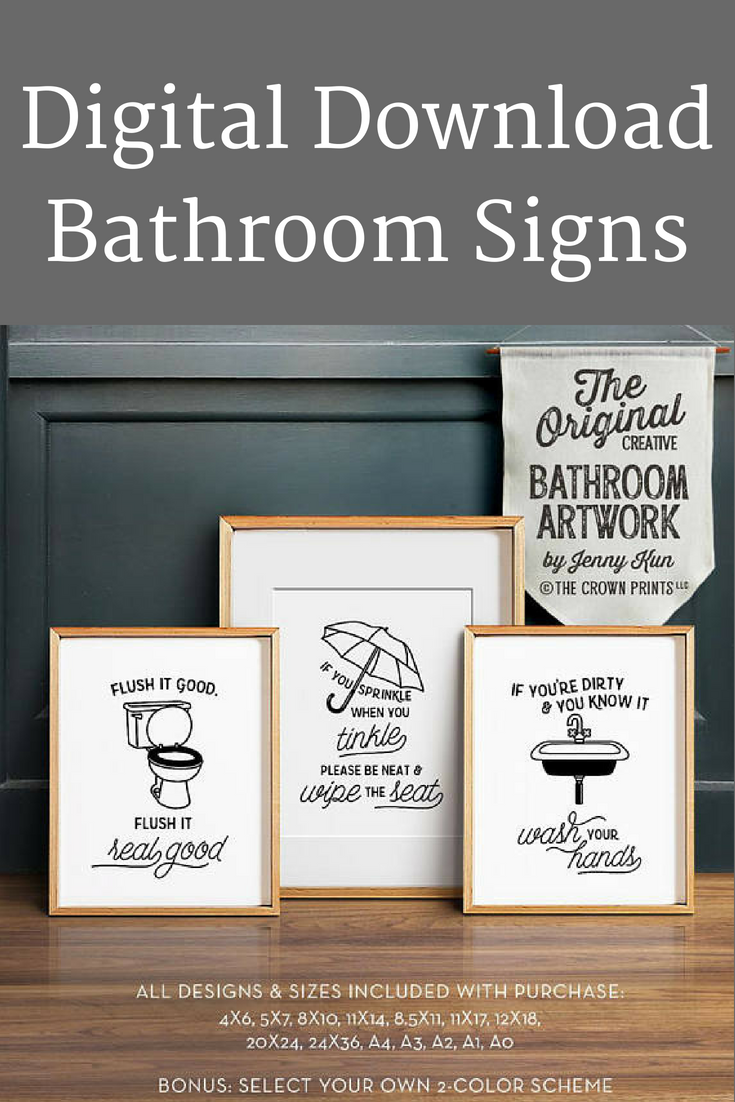 decorate your bathroom with these cute and funny printable downloads rh pinterest fr