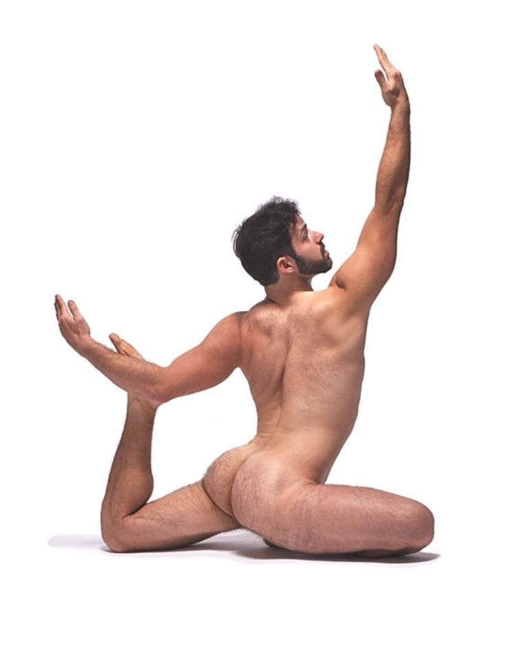 Indeed buffoonery, naked yoga men