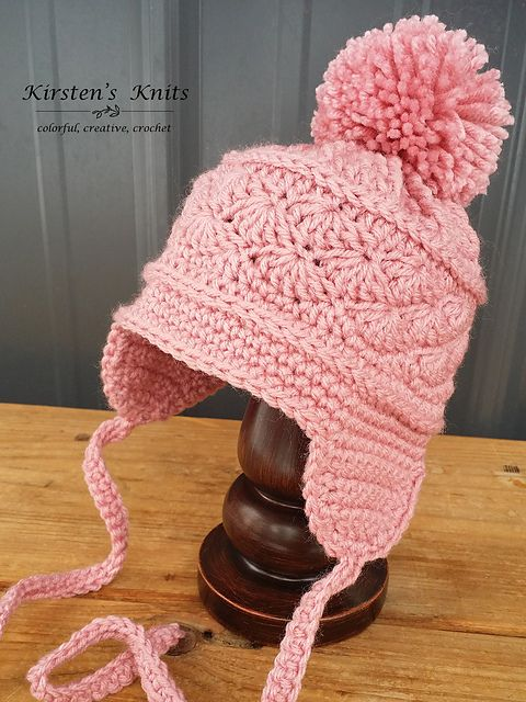 La Vie en Rose Earflap Hat pattern by Kirsten Holloway | Pinterest ...