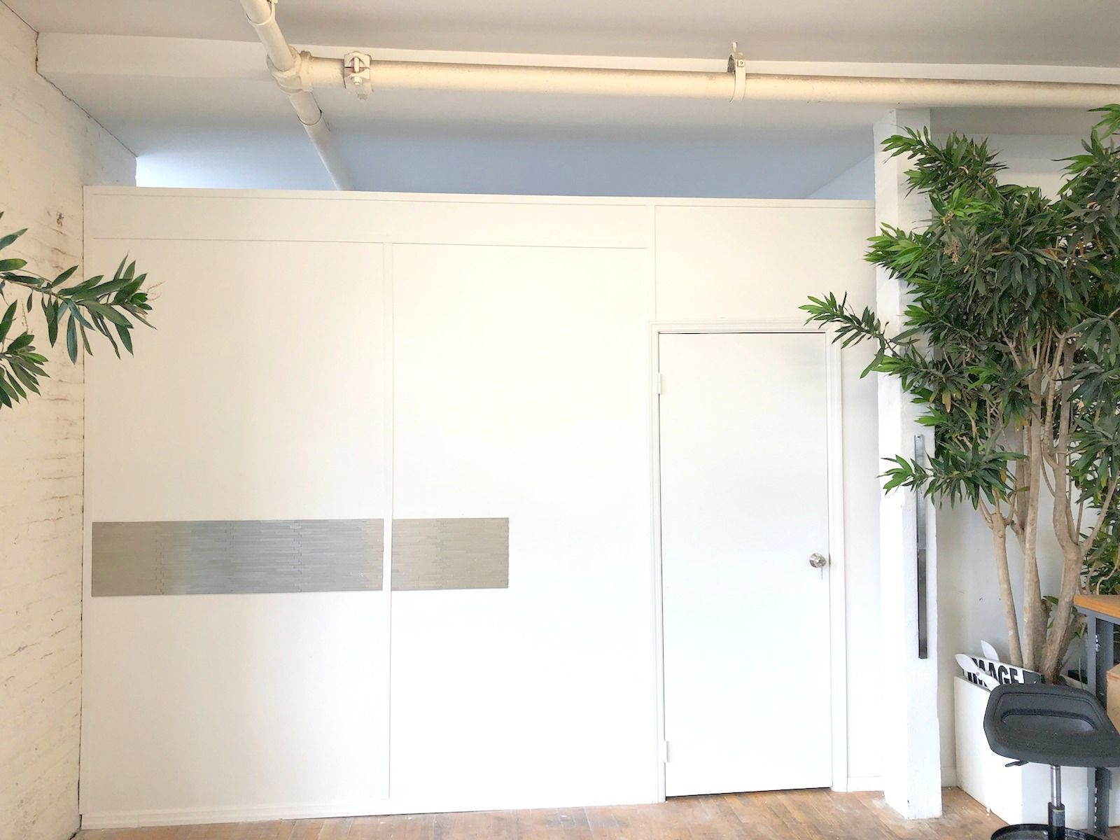 standard temporary wall with swing door call us for all your custom rh pinterest com
