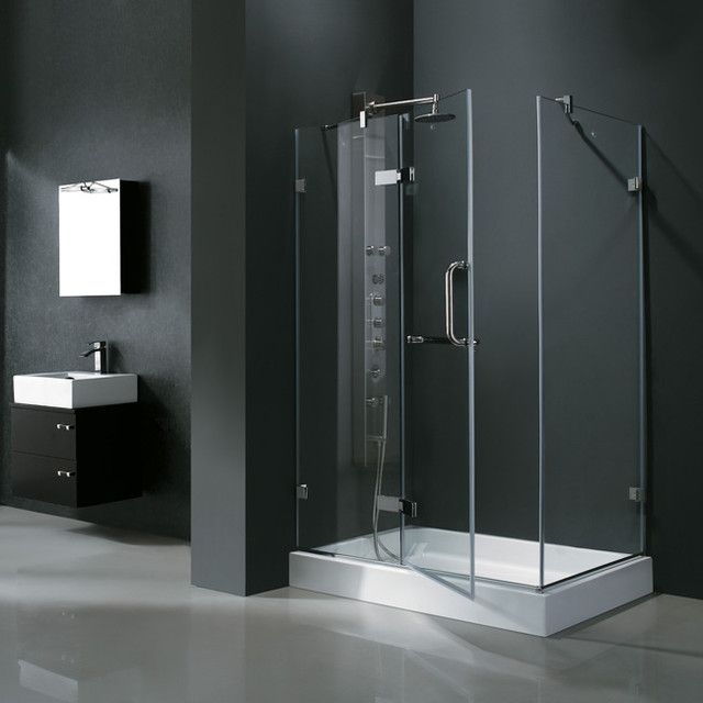32 inch corner shower stall kits. Vigo  32 X 48 Rectangular Glass Shower Enclosure x base for shower and walls Stalls