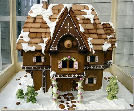 this gingerbread house looks too good to eat