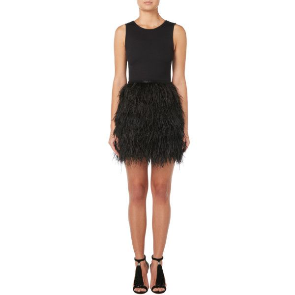 - Azzaro black marabou feather miniskirt, circa 1990.