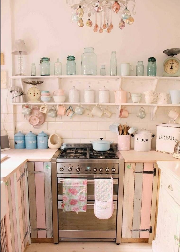 cuisine-palette-diy-bois-pinterest-diy  Shabby chic kitchen decor