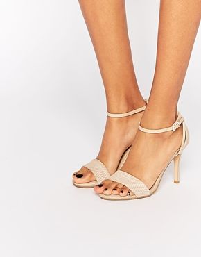 92689caae1 Dune Madeira Nude Snake Effect Barely There Heeled Sandals