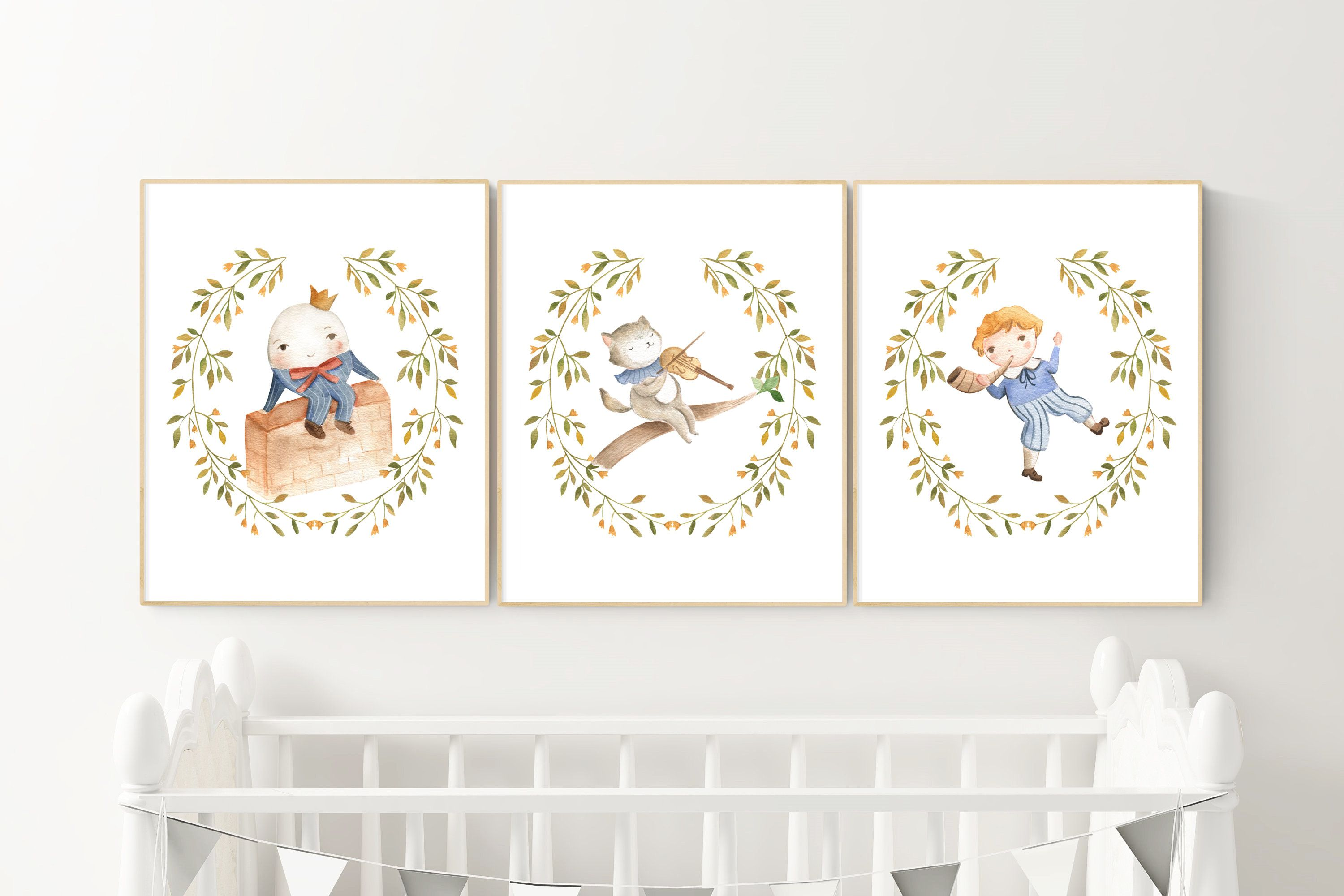 Watercolor Nursery Wall Art