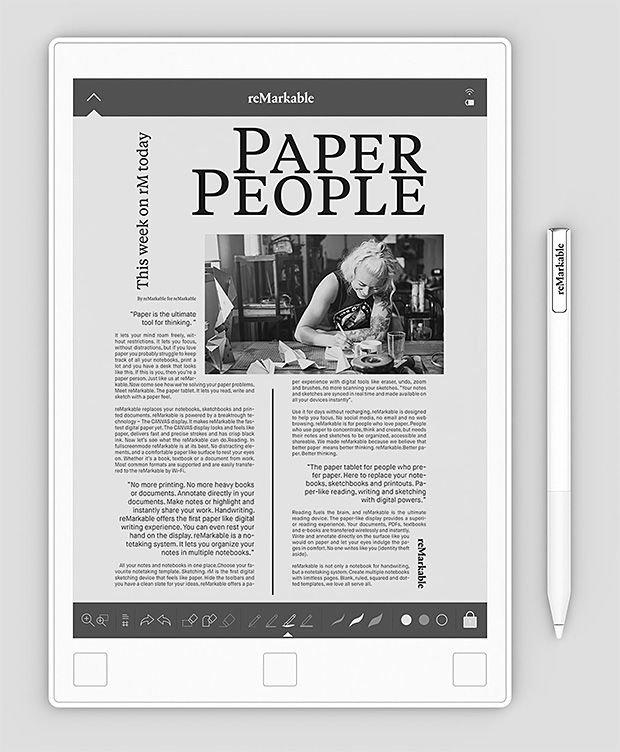 reMarkable Paper Tablet -- Whether you're reading, writing ...