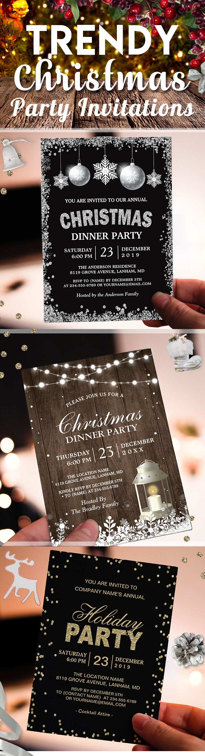 party invitations after wedding%0A     Stunning Holiday And Christmas Party Invitations