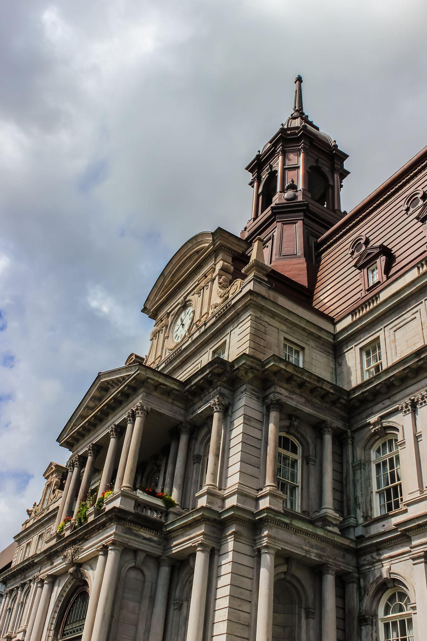 City hall montreal quebec canada