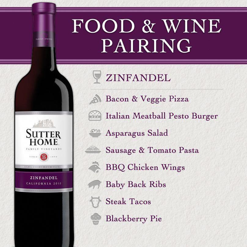 sutter home wine food pairing series zinfandel rh pinterest com
