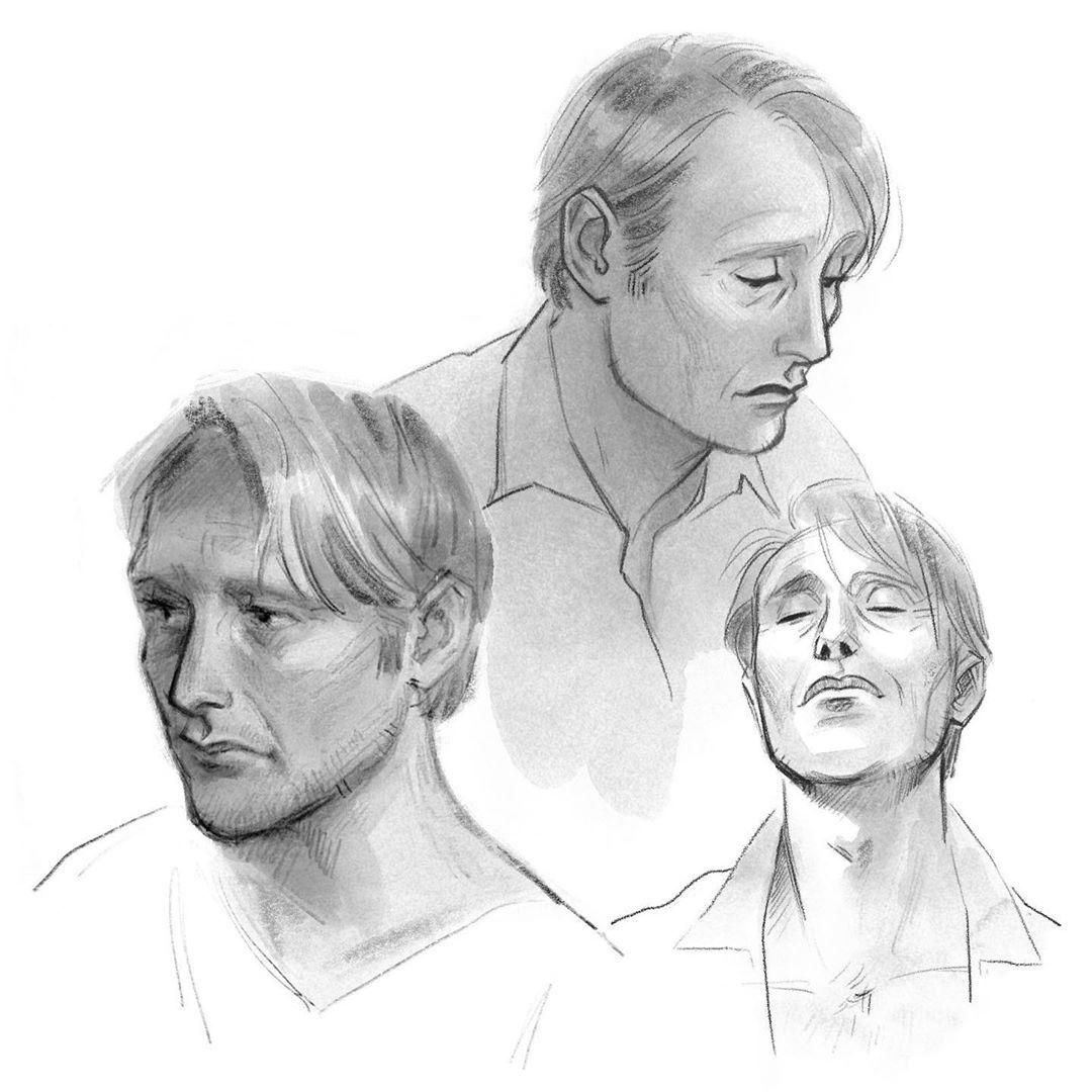 """Sash posted on Instagram: """"The Great Dane✨ . . . . . #MadsMikkelsen #Hannibal #studies #sketch #artstagram #drawing #Procreate…"""" • See all of @sashkabeep's photos and videos on their profile."""