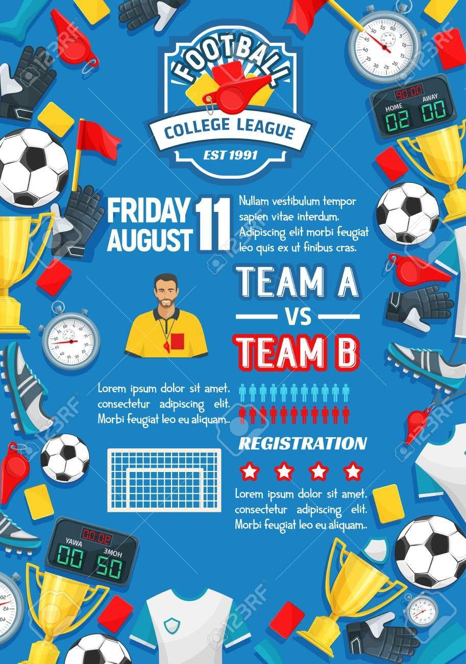 Football tournament Poster Template Free Beautiful soccer