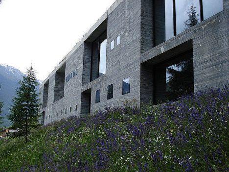 Peter Zumthor's Thermal Baths in Switzerland, built in 1996
