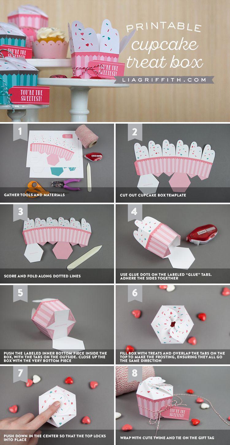 Printable Cupcake Boxes Diy Bakery Favor Boxes Cupcake Boxes Diy Cupcake Boxes Cupcake Boxes Template