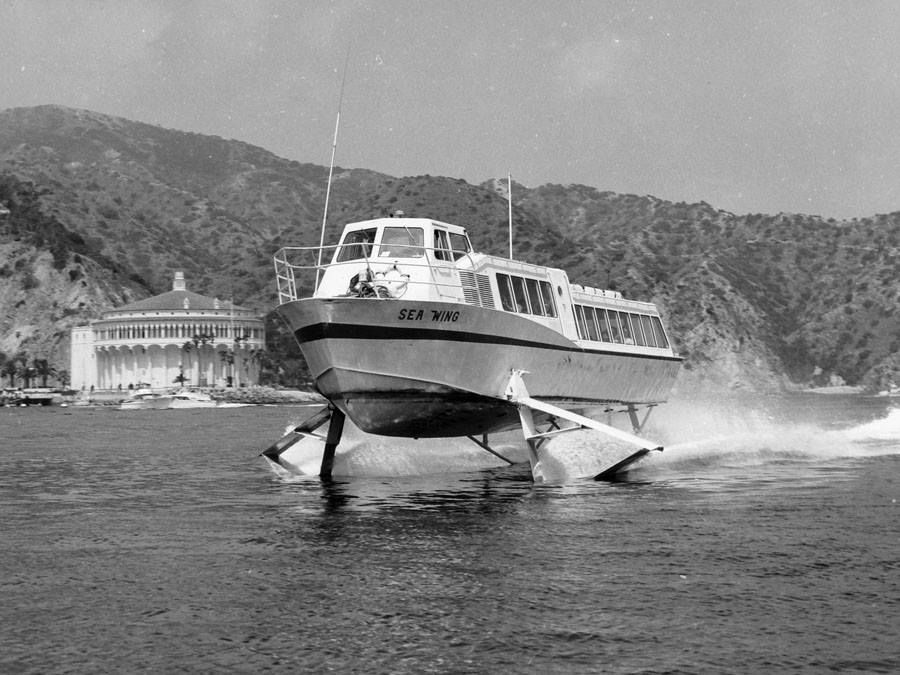 Catalina Island Museum Found This Great Photograph Of The Sea Wing Hydrofoil While Looking Through Island Transportation Photos Catalina Island Catalina Island