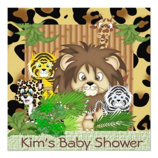 Safari BABY THEME SHOWER  THEME Invitations