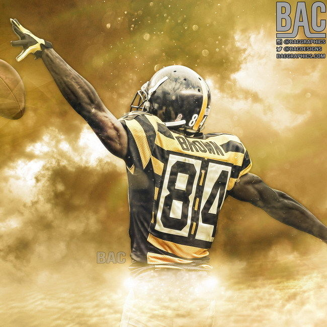 purchase cheap 518d0 41797 $6.99 - 126 Antonio Brown - American Football Wide Receiver ...