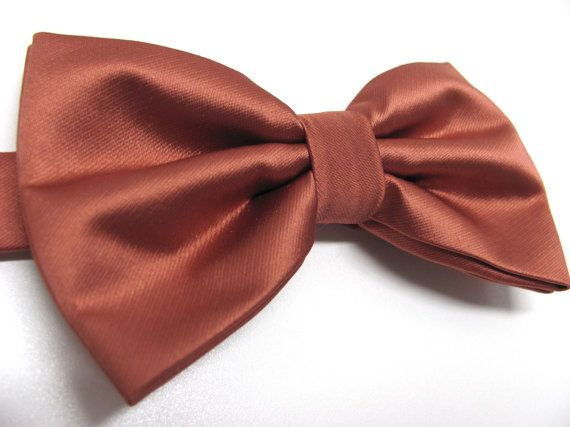 Mens Bowtie. Copper Brown Bowties. Copper Bow tie by TieObsessed