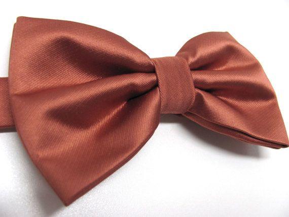 Solid Cinnamon Mens Pre-Tied Bow Tie