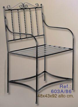 Silla de forja silla forja muebles hierro forjado for Muebles de hierro forjado