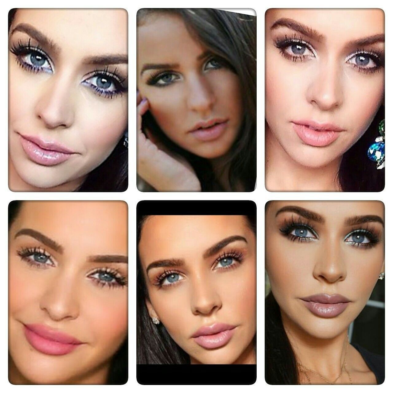Carli bybel lip injection top row before bottom row