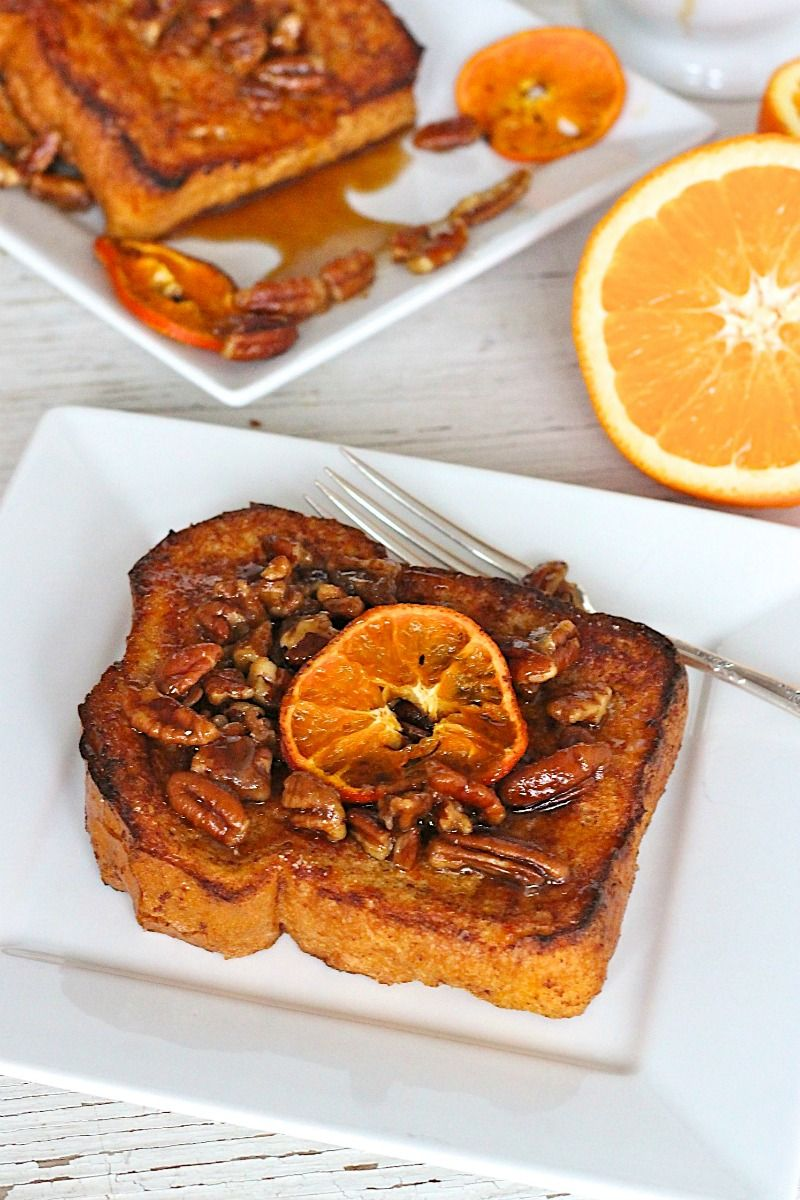 Orange Pecan French Toast Yummy breakfast, Recipes