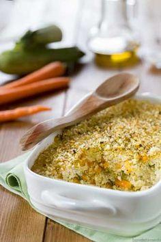 Sformato di miglio con zucchine e carote - Ricetta